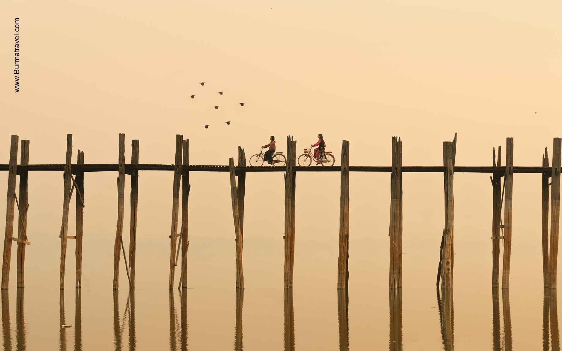 Ubein Wooden Bridge - top Attractions in Mandalay