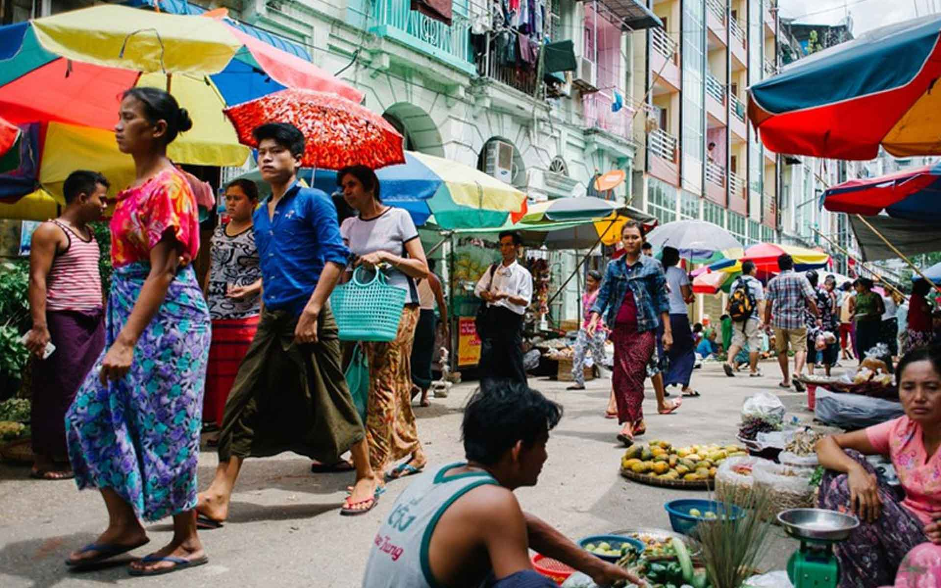 Local market in Yangon