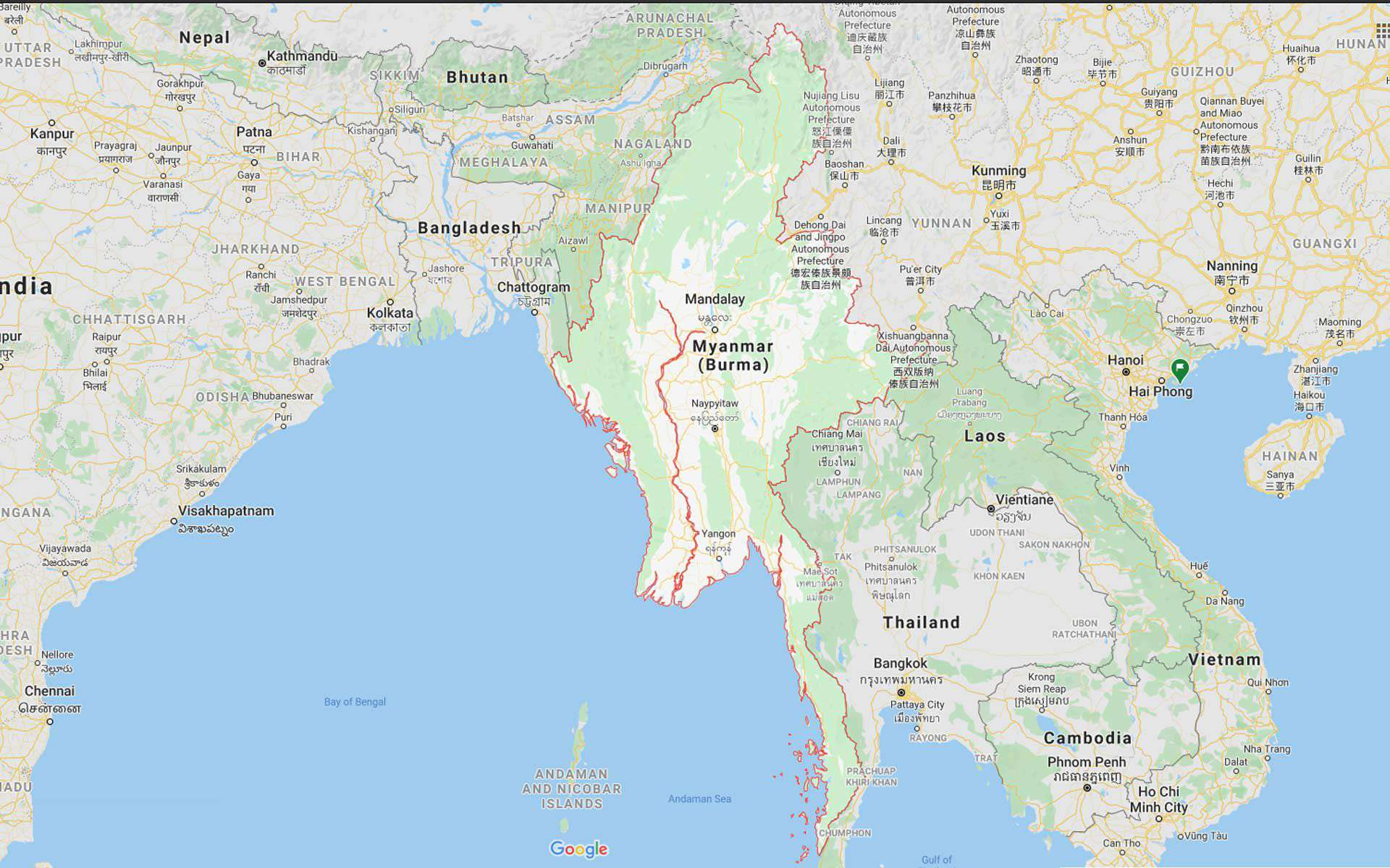 Fact about Myanmar: Map