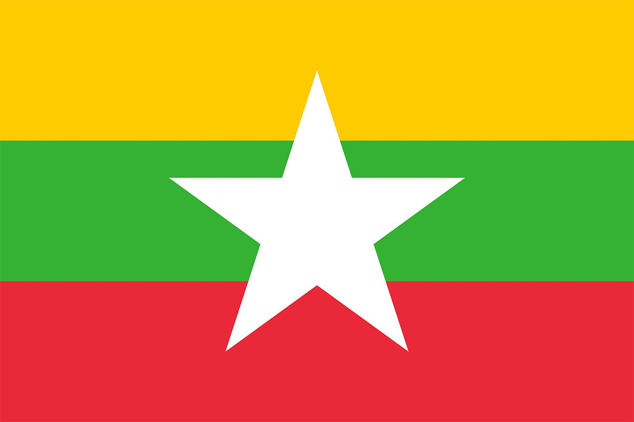 Flag of Myanmar today